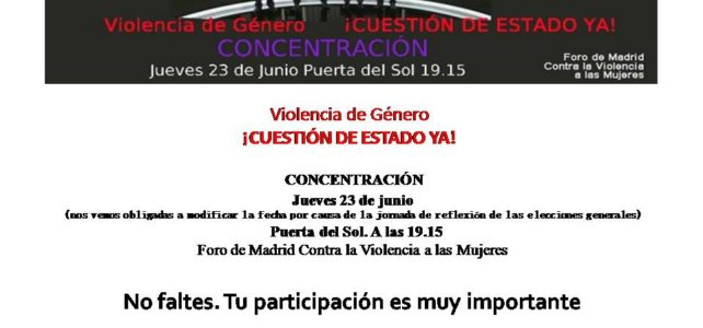 Concentración 23 de junio