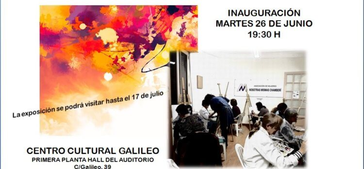 Invitación a la exposición de pintura Nosotras Mismas Chamberí