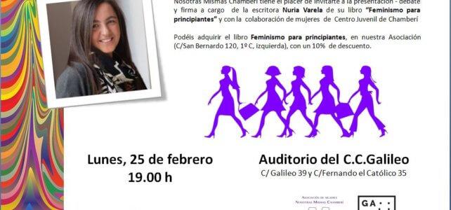 Encuentro con la escritora Nuria Varela