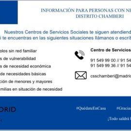 SERVICIOS SOCIALES JUNTA MUNICIPAL DE CHAMBERÍ